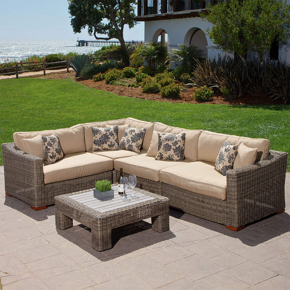 - Sigma All Weather Rattan Furniture Aluminum Sofa Sets Sectional