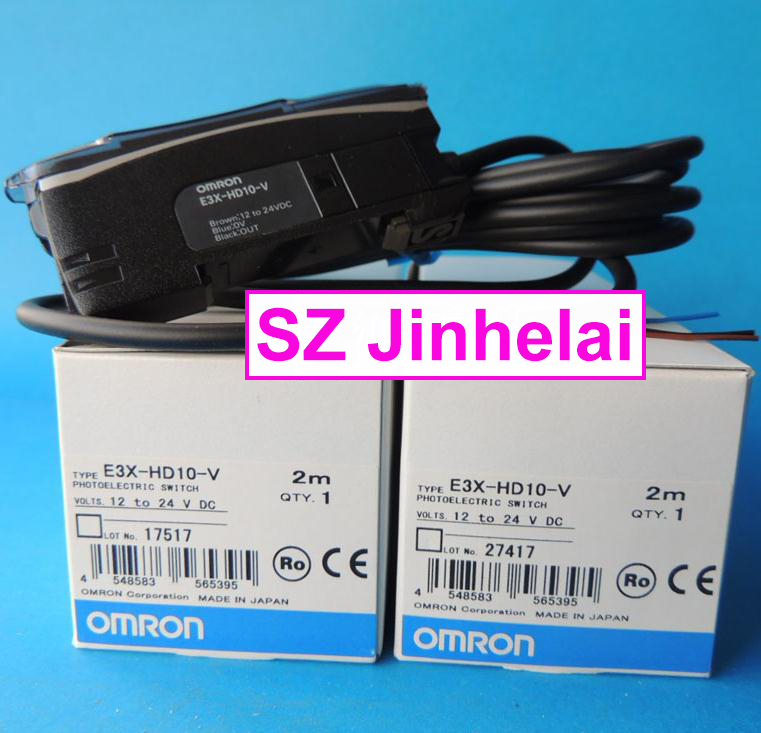 цена на 100% Authentic original E3X-HD10-V OMRON Photoelectric switch 12-24VDC 2M
