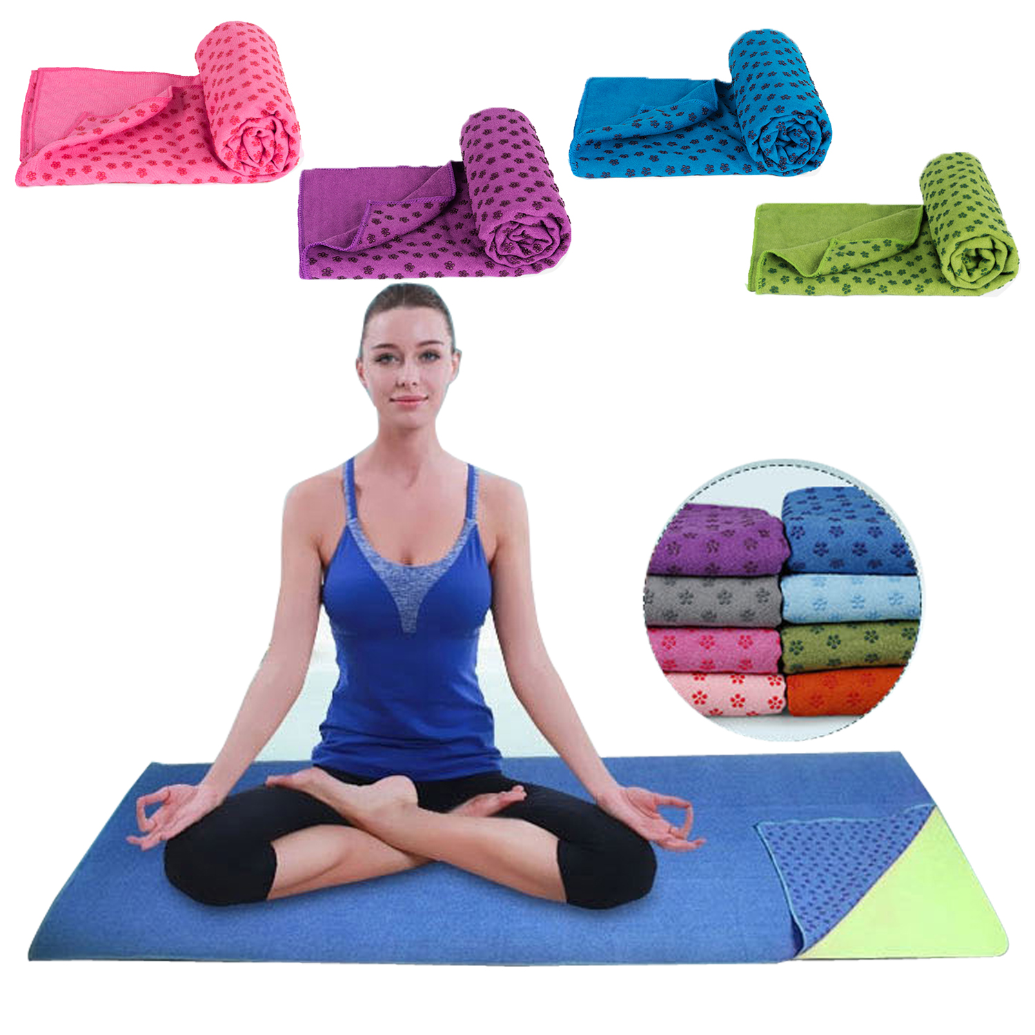 Soft Travel Sport Fitness Exercise Yoga Pilates Mat Cover Towel Blanket Non-slip Sports Towel 183x63cm Free Shipping