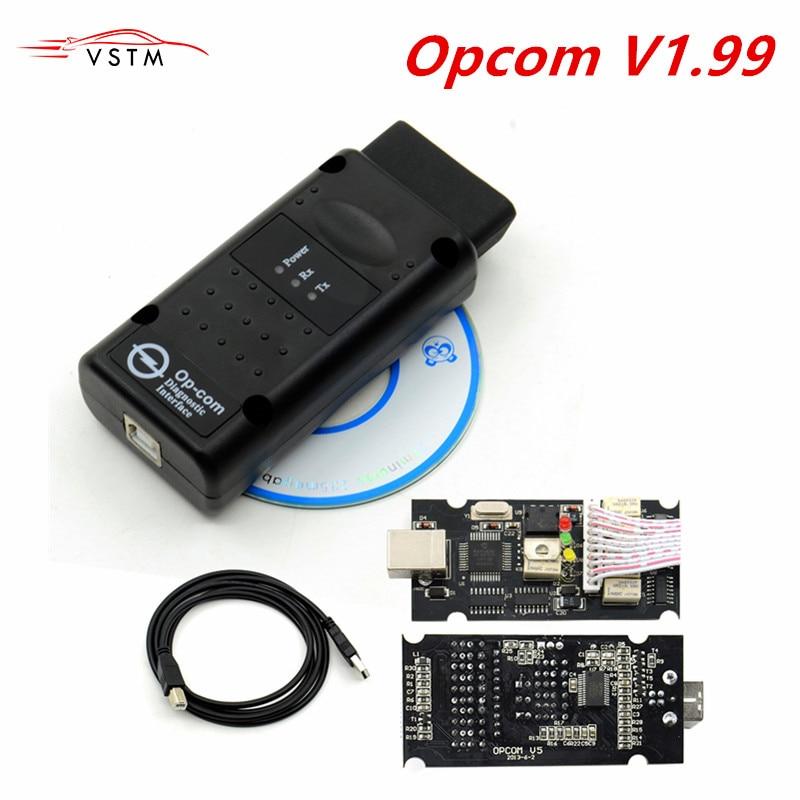 2019 OP com Opel OP-COM V1.70 1.78 firmware 1.99 A + qualidade Para ferramenta de Diagnóstico-OP com real pic18f458 pode ser atualização do flash