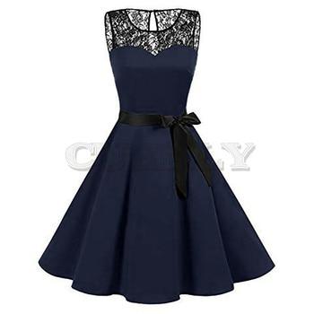 Plus Size Summer Women Midi Dress 2019 Gothic Print Sleeveless Ladies Lace Dresses Vintage Party Dress Women Clothes Vestidos