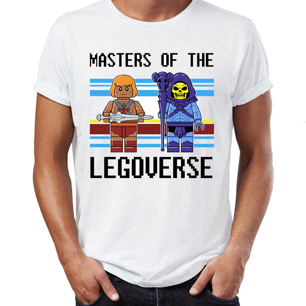 Maglietta degli uomini di He-Man e Il Master of The Universe Skeletor Impressionante Artwork Stampato Tee