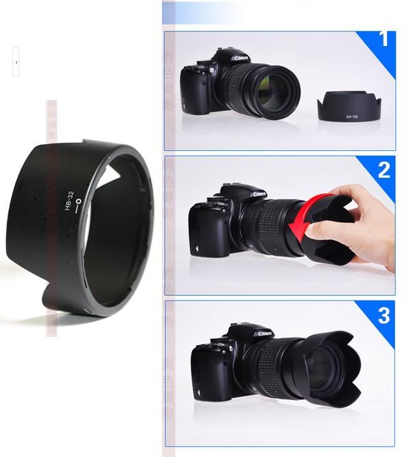 Free shipping 1pcs camera bayonet Lens Hood HB-32 HB 32 for Nikon D7100 D90 D7000 18-105 18-135 18-140 6