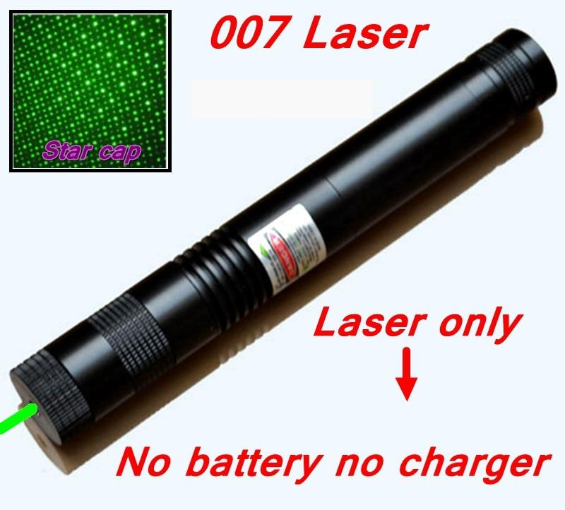 [ReadStar]RedStar 007 high power Green Laser pointer Laser pen burn match star pattern cap laser only w/n battery & charger