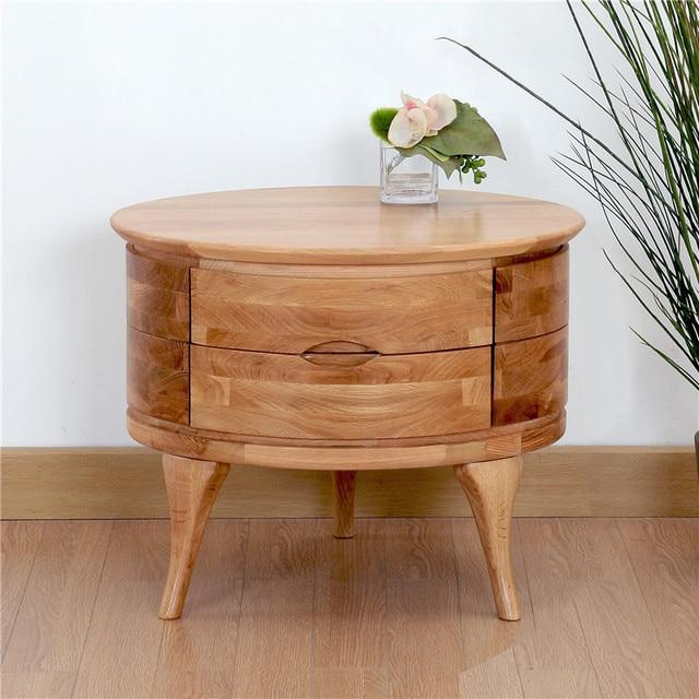 Wild Rubber Ns402 Black Walnut Bedside Cabinet Simple White Oak Table Round The Corner