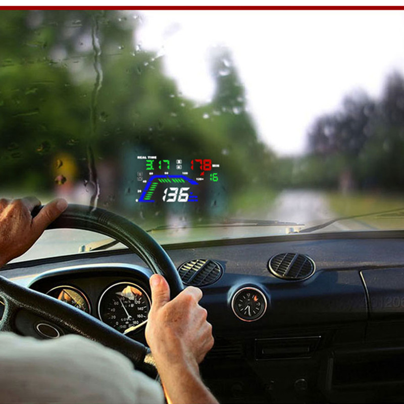 Image 5 - GEYIREN hud display car Q7 gps speedometer car for mirror hud Car Bike Motorcycle Auto Accessories Windshield Projector Alarm-in Head-up Display from Automobiles & Motorcycles