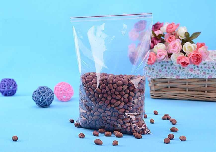תיקי מיקוד Ziplock תכשיטים מכווצים נעילת Reclosable פלסטיק פולי נקה עובי 0.05mm 0.06mm 0.08mm