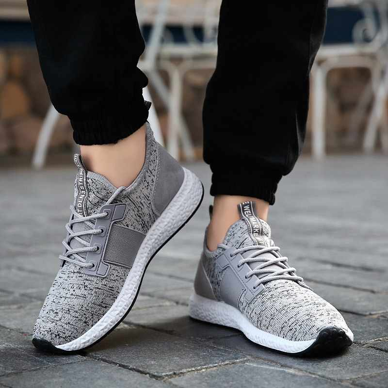 LEOCI Men Sneakers Running Shoes Lightweight Breathable Mesh Sports Shoes Jogging Footwear Walking Athletics Shoes baskets homme