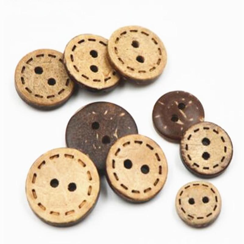 1 Los = 30 Stücke Natürliche Coconut Shell Tasten 2 Löcher Tasten Nähen Zubehör Kinder Kleidung, Strickjacke Taste Sofa Tasten