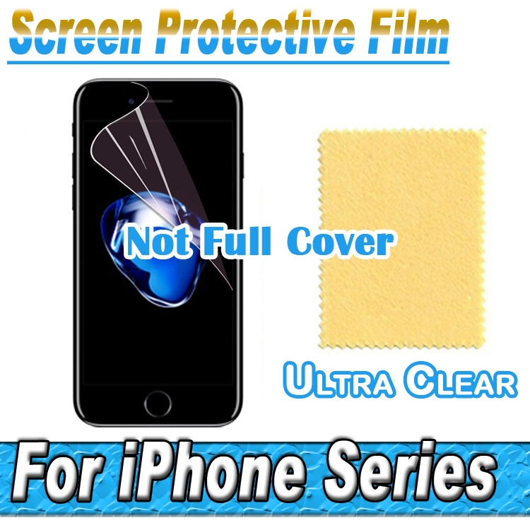 HD Clear Screen Protector Display Protective Soft Film For font b Apple b font iPhone 7