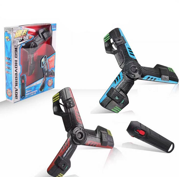 360 Hoverblade Remote Control UFO Boomerang, Rechargeable Flying Saucer Boomerang with Flash Light, Delta Wing Aircraft Flying D