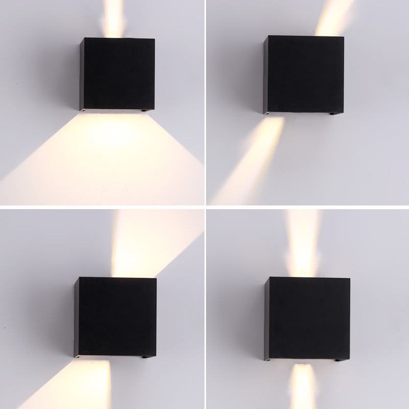 Lighting Adjustable LED Wall Lamp 6W 12W Outdoor Garden Porch Light Sconce Indoor Decoration Lighting Lamp Aluminum AC90-260V