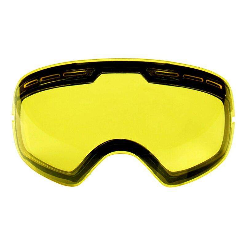Prix pour Double Couches UV400 Anti-brouillard Ski Lunettes Lentille Éclaircissant Lentille Pour Faible Lumière Applicable à GOG-201/S-3100 (seulement Lentille)