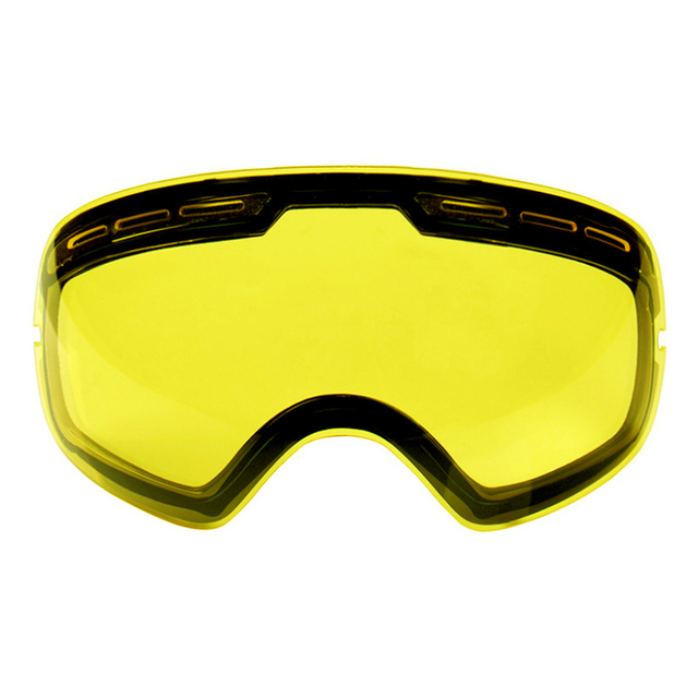 Double Layers UV400 Anti-fog Ski Goggles Lens Brightening Lens For Weak Light Applicable to GOG-201/S-3100 (Only Lens)