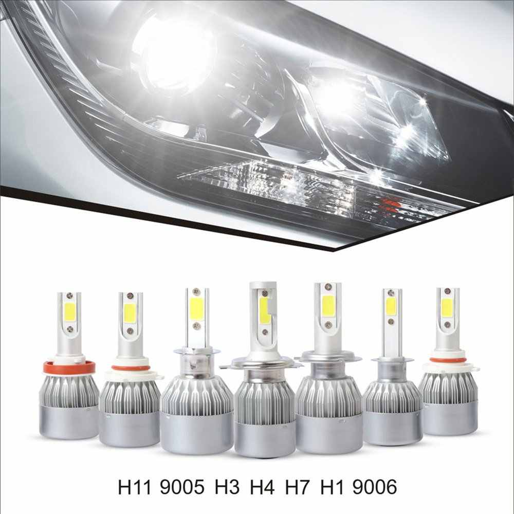 H1 H3 H4 H7 H8/9/11 H13 9004 9005 9006 9007 9012 880 881 COB 30000LM 6500K Car Auto Bulb Lamp 2 PCS LED Headlight Bulbs Kit