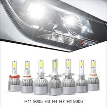 H1 H3 H4 H7 H8/9/11 H13 9004 9005 9006 9007 9012 880 881 COB 30000LM 6500K Car Auto Bulb Lamp 2 PCS LED Headlight Bulbs Kit(China)