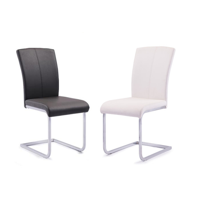 Luxury Furniture China Best Offers New Fashion European Dining Chair Stainless Pu Leather Dining Chair Leisure Back Chair Hotel Furniture Living Room Dining Chair
