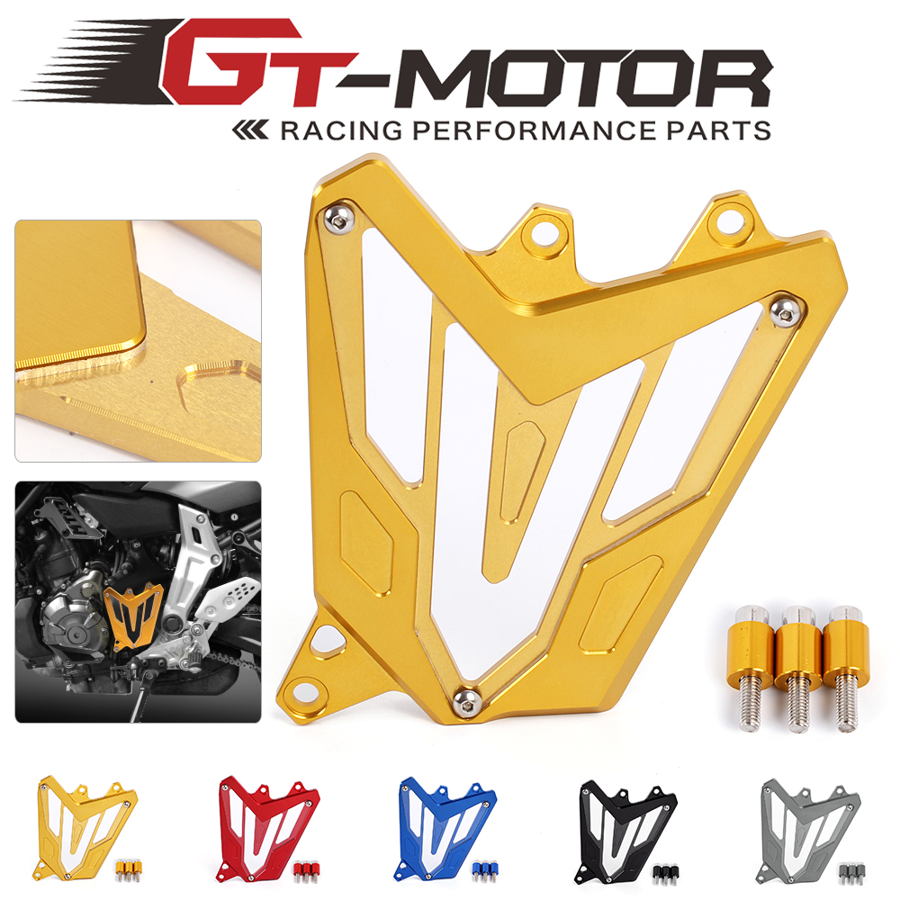 Motorcycle Scooter Front Sprocket Cover Panel Left Engine Guard Chain Cover Protection For YAMAHA MT-07 FZ-07 2014-2016 mgoodoo cnc aluminum motorcycle left engine guard chain protector front sprocket cover panel for yamaha r3 r25 2014 2015 2016