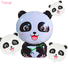 Taoup Jungle Party Safari Happy Birthday Balloons Air Helium Foil Panda Round Ballons Accessories Baloons Baby Shower