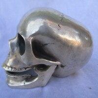 Коллекционные тибетские статуи серебряного черепа/Китайская народная скульптура черепа