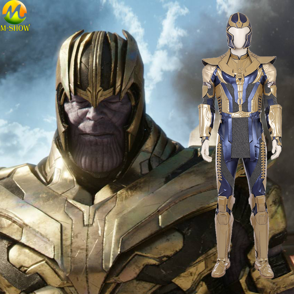 Avengers Infinity War Thanos Costume Cosplay Adult Men Cosplay Thanos Armor Battle Costume For Halloween