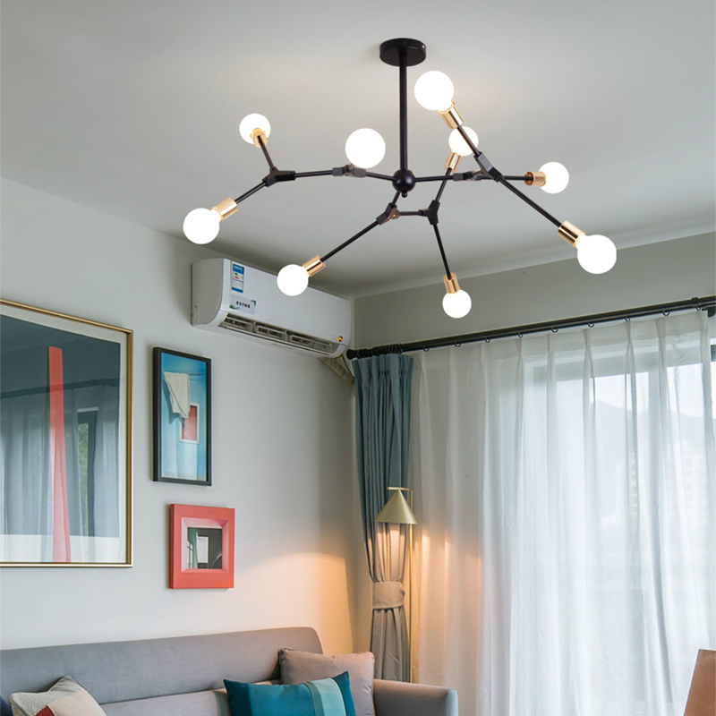DNA Spiral structure Ceiling Lights Vintage Home Lighting Luminaire Multiple Rod Wrought Iron Ceiling Lamp E27 Bulb  Lamparas uti caused by staphylococcus dna in comparison to candida dna