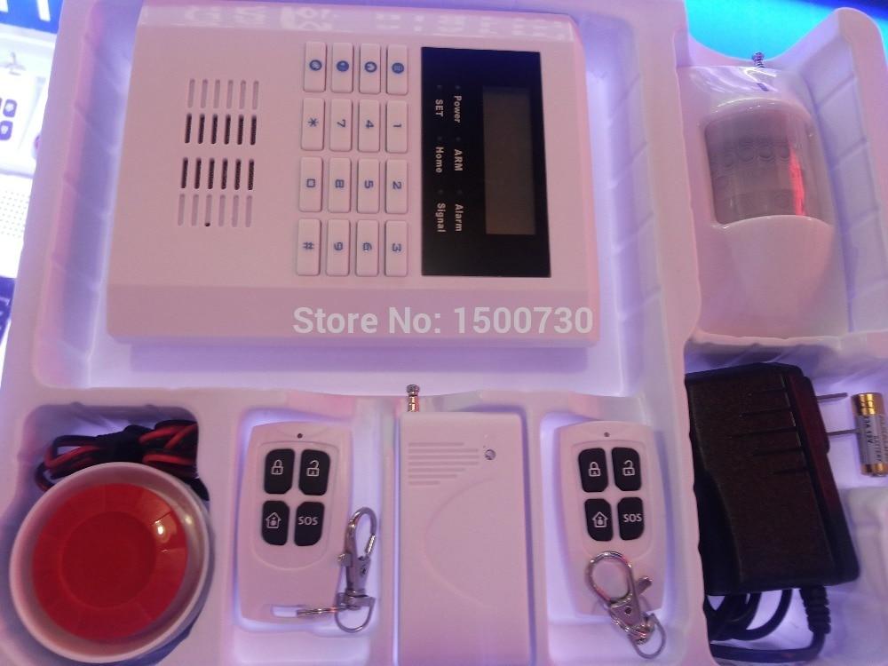 ФОТО GSM Alarm System Quad-Bands GSM PSTN LCD Display Wireless Home Security Alarm Burglar System