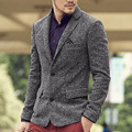 Men slim suit blazer jacket Brand chaqueta blazer hombre casual Business Jacket Blazer men two button social suit jackets 2016