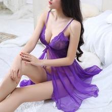 LKlady кружевное сексуальное дамское белье сексуальные пижамы костюм из двух частей Дамская униформа искушение ремень ночная рубашка перспективное нижнее белье