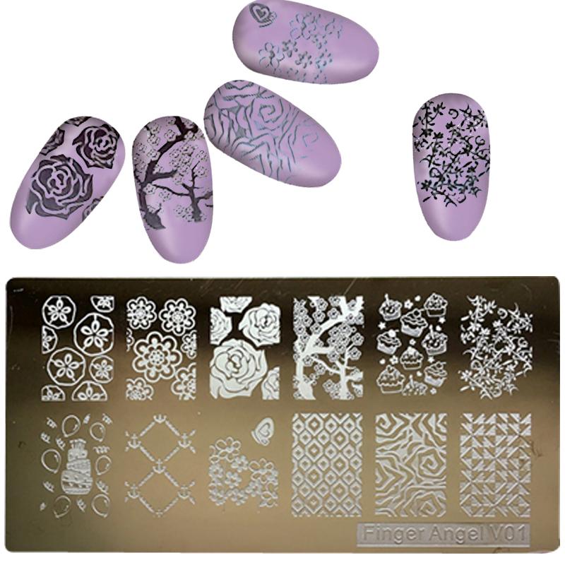 1PC-6-12CM-Nail-Stamping-Plates-Konad-Stamping-Nail-Art-Manicure-Template-Nail-Stamp-plates