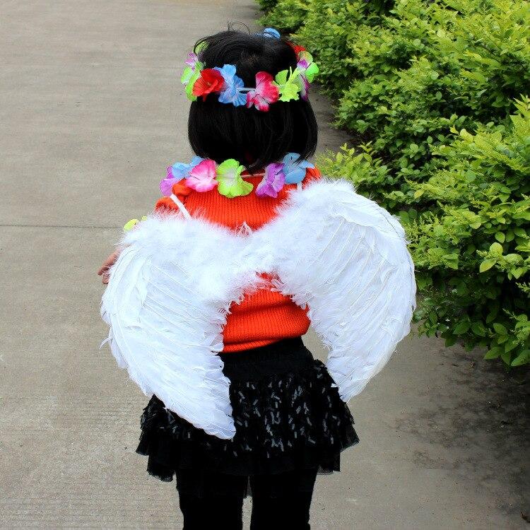 Halloween Party Supplies Kids Boys Girls Angel Wings White Feathers Wings Props Gift 45*35cm tretorn tretorn wings kids 2620841