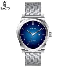 Luxury Tacto Brand Mens Watches Stainless Steel Waterproof japan Analog Quartz Mesh Watch Gents Fashion Dress Wrist Watch все цены