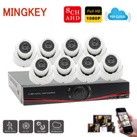 1080P 8CH DVR Kit AHD CCTV Camera System Full HD IR Dome Camera 2 0MP Home