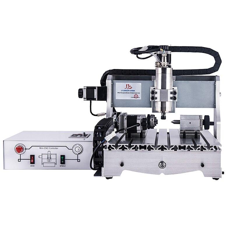 Mini diy CNC router 4030 800W 4axis milling Machine with ball srewMini diy CNC router 4030 800W 4axis milling Machine with ball srew