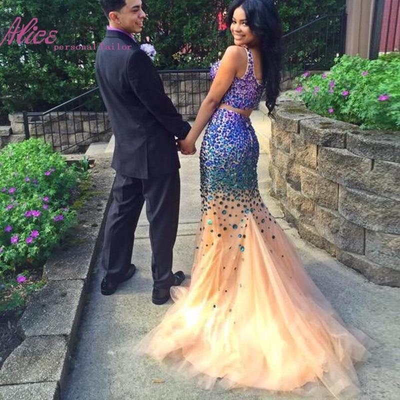 Online Get Cheap Prom Dresses 2015 Blue Two Piece -Aliexpress.com ...