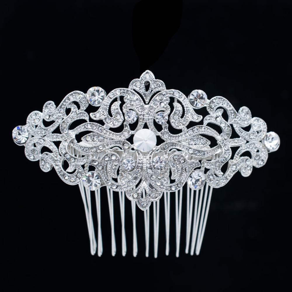 Popularni češalj za kosu s bočnim kristalima za mladenke za - Modni nakit - Foto 2