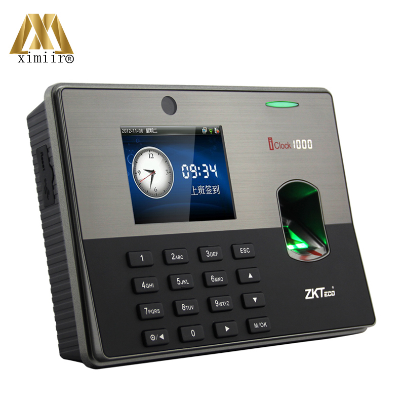 TCP/IP Biometric Fingerprint Door Access Control System ZK Iclock1000 Fingerprint Time Attendance Time Recorder Time Clock
