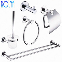 Rolya Ronda настенное крепление 5 шт. набор оборудования для ванной крючок для халата туалетная бумага держатель для румян полотенца бар наборы а