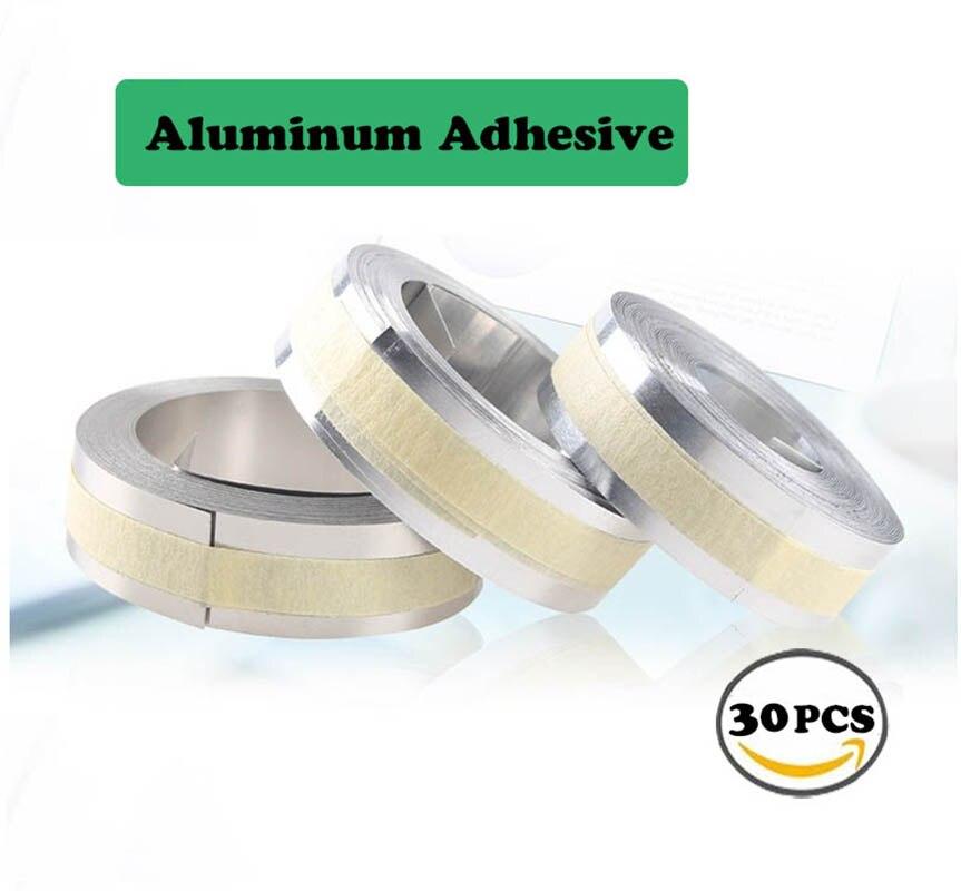 30 PKS DYMO Goffratura Adesivo In Alluminio per il 3D 35800 Metallo stampanti di etichette nastri 12mm * 3.65 m goffratura