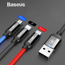 Baseus 3 in 1 USB Cable for Mobile Phone Micro USB