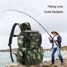 Lixada Fishing Tackle Bag Large Capacity Camouflage  Backpack Storage Lures Bait Box For Hunting Travel Camping