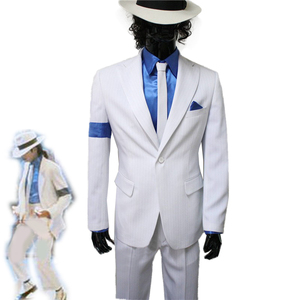 Michael Jackson Smooth Criminal Suit Cosplay Costume Halloween Carnival Uniforms Custom Made(China)