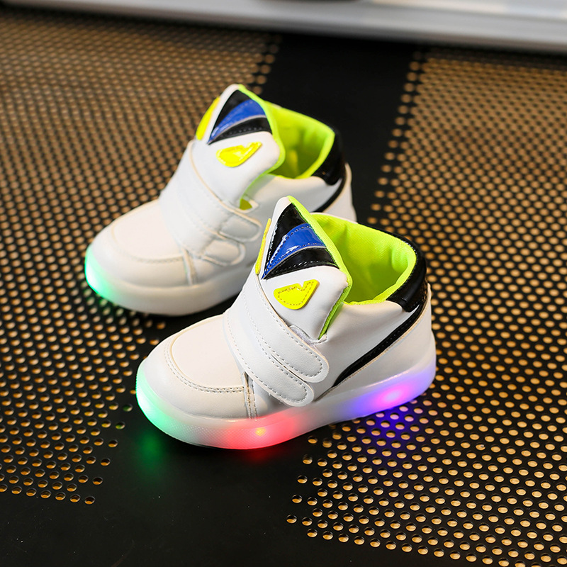 Ypyuna China Style Rose Flower Glowing Sneakers New 30-44 Luminous Sneakers For Girls Boys Women Shoes With Light Led Shoes Girls