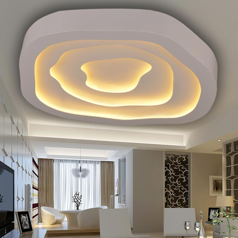 купить Modern Led Ceiling Lights For Living Room Bedroom Kitchen Lamp Layer Acrylic Lampshade White Iron Home Lighting Fixture 220V по цене 8092.38 рублей