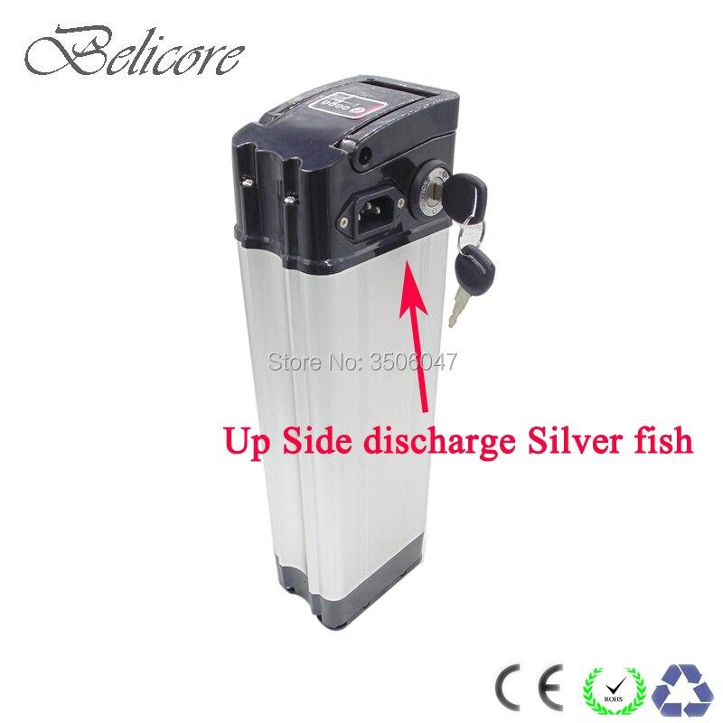 Ue US pas de taxe top décharge argent poisson Case 36 V 17Ah vélo électrique batterie au Lithium avec chargeur