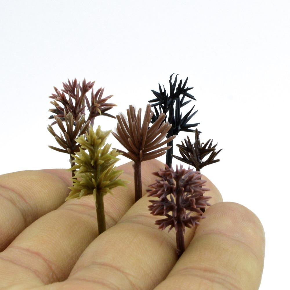2-3cm Model Tree Toy Building Train Tree Decorations Miniature Landscape Resin 10pcs Western Mirror Sand Table Production