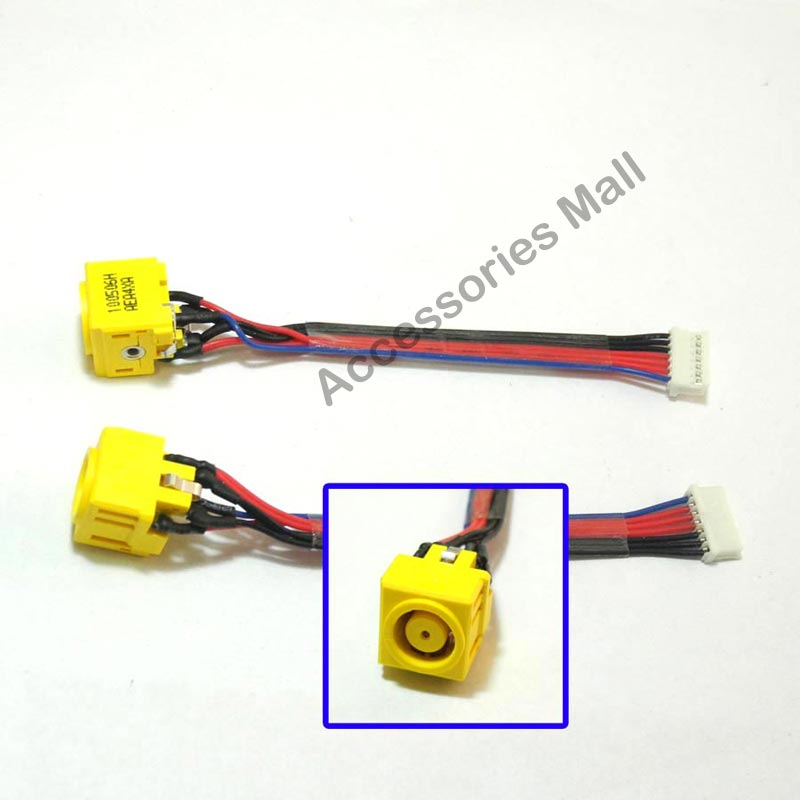 Cables /& Connectors 1-10 pcs New DC Power Jack Connector for MSI GE62 GE72 MS1791 DC Jack with Cable 6-pin Cable Length: 2 PCS