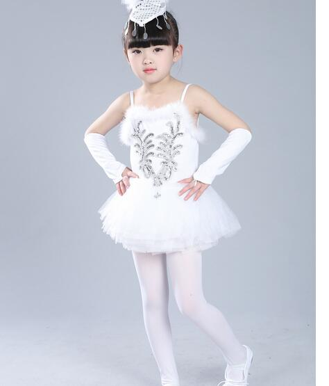 1pcs/lot free shiping Professional White Swan Lake Ballet Tutu Costume Girls Children ballet dancing dress