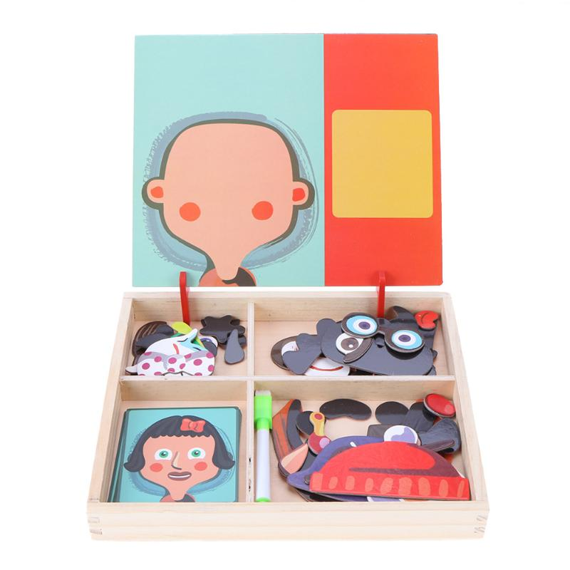 Image 3 - 3D Wooden Kids Educational Pretend Play Learning Toys Magnetic Puzzle Wood Toy Wooden Puzzles For Kids Wooden Puzzles Game Gift-in Puzzles from Toys & Hobbies