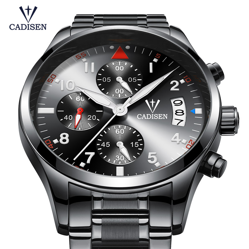 Cadisen Horloge Herenmode Sport Quartz Horloges Topmerk Luxe Volledig - Herenhorloges - Foto 5